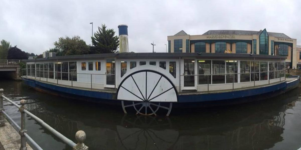 Compton Castle cafe Boat on Lemon Quay
