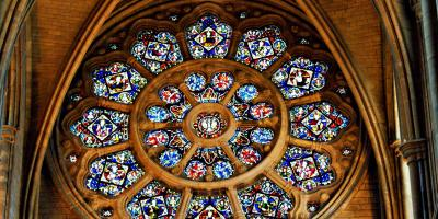 Rose Glass window Truro Cathedral